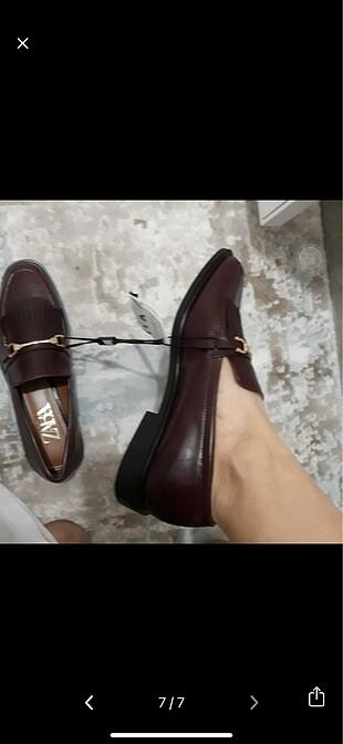39 Beden bordo Renk Zara makosen ayakkabı