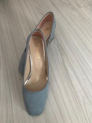 Bebek mavisi ayakkabı