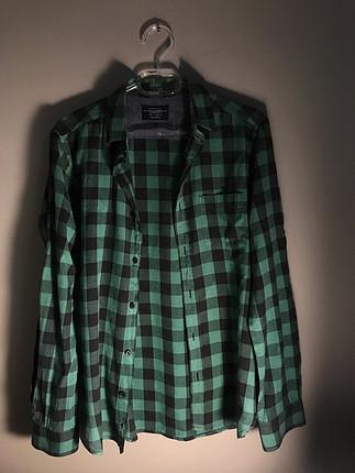Yeşil siyah kareli gömlek