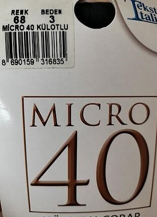Micro 40 külotlu çorap