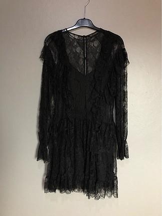 Zara dantel astarlı mini elbise