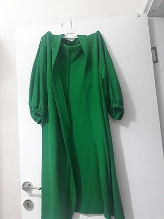 Hırka uzun yeşil