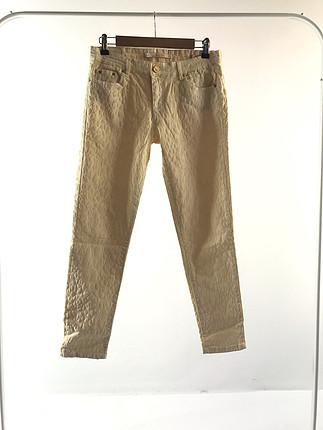 Kadife detaylı pantolon