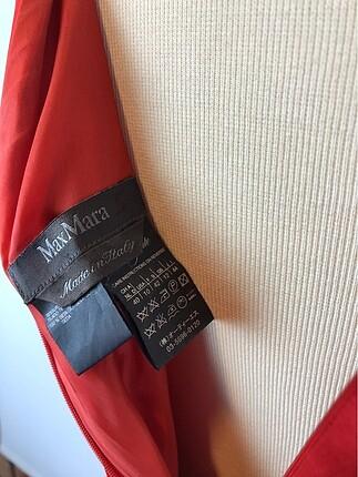 40 Beden kırmızı Renk Sıfır Kol Elbise