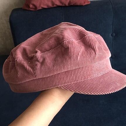 Beden h&m kadife vintage denizci şapkası