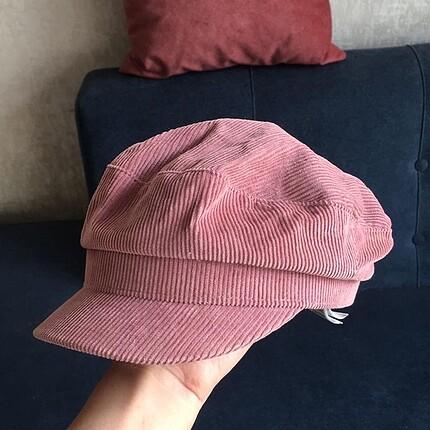 H&M h&m kadife vintage denizci şapkası
