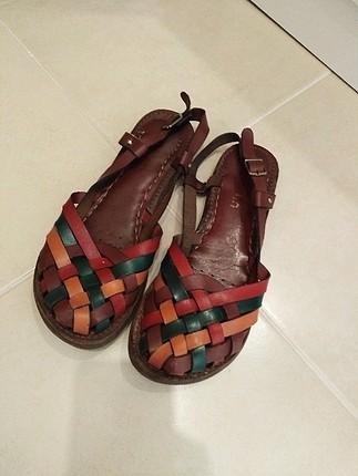 Marjin gerçek deri 38 numara sandalet