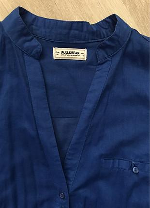 Mavi tunik gömlek