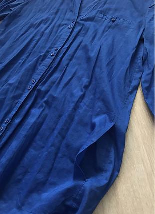 m Beden mavi Renk Mavi tunik gömlek