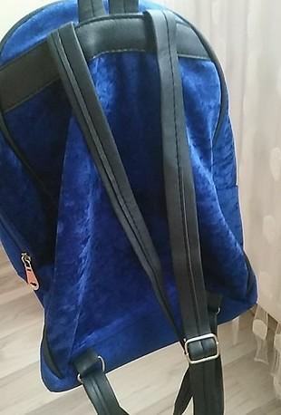 kadife sırt çantası