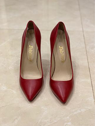 Jabotter Kırmızı Topuklu Stiletto Ayakkabı