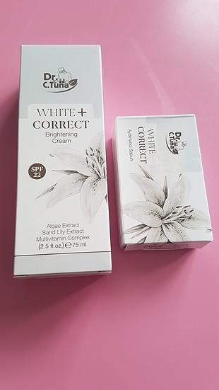 farmasi white correct aydınlatıcı krem + aydınlatıcı sabun