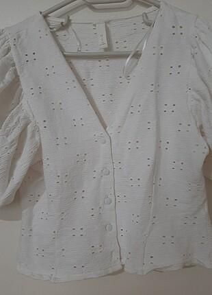 s Beden beyaz Renk Fisto bluz