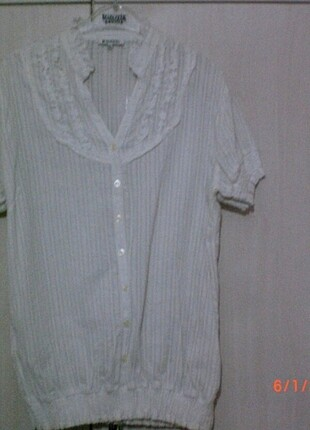 DeFacto marka beyaz renk bluz XXL beden