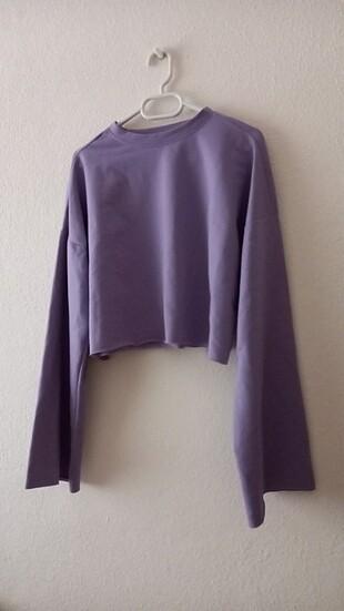 lila crop bluz