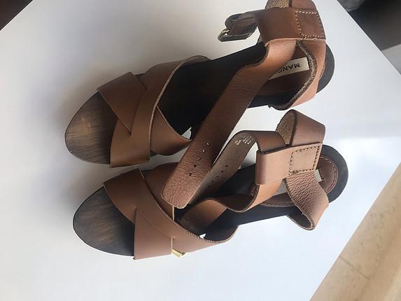 40 Beden taba Renk Kalın topuklu sandalet