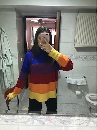 Koton renkli kazak