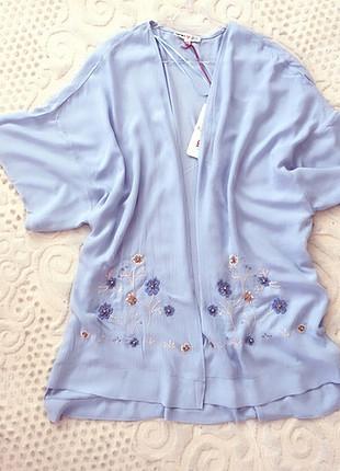 40 Beden mavi Renk Kimonooo