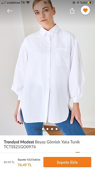 Beyaz gömlek tunik