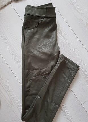 Kabartma desenli tayt pantolon