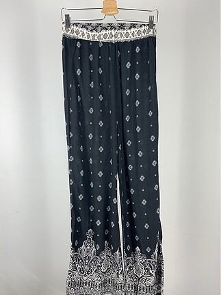 Şal Desenli Pantolon