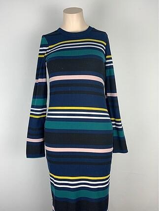 Blok Renkli Elbise
