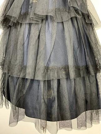 xs Beden siyah Renk Güpürlü elbise
