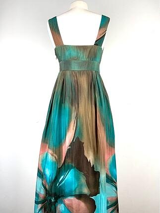 36 Beden Desenli elbise