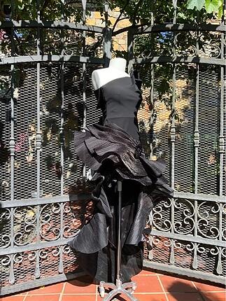 xs Beden siyah Renk Tasarım elbise
