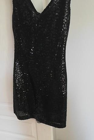36 Beden siyah Renk payet elbise