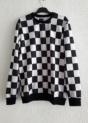 Damalı Sweatshirt