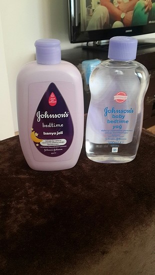 Bebe yağı ve banyo jeli johnsons