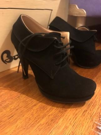 Siyah Velvet Bambi Ayakkabı
