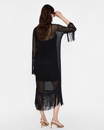 Zara Zara midi boy püsküllü elbise