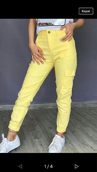 Sarı kargo pantolon