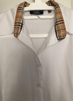 42 Beden Beyaz uzun kollu gömlek