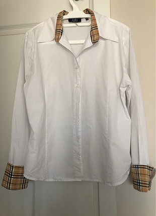 42 Beden beyaz Renk Beyaz uzun kollu gömlek