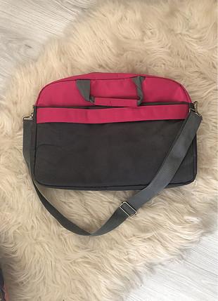 Diğer Gri pembe laptop çantası