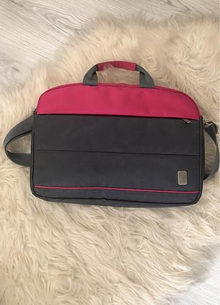diğer Beden Gri pembe laptop çantası