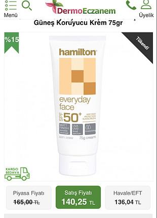 Hamilton günlük krem