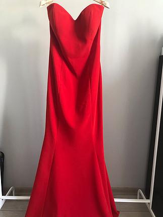Oleg Cassini Kırmızı balık elbise