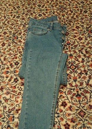 Diğer düğmeli yüksek Bel sknny jeans