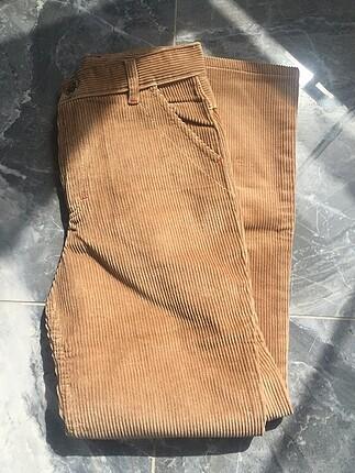 Kadife ispanyol paça pantolon