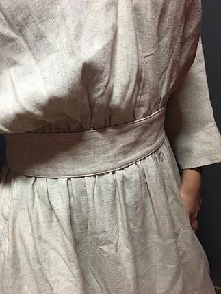 0 keten elbise