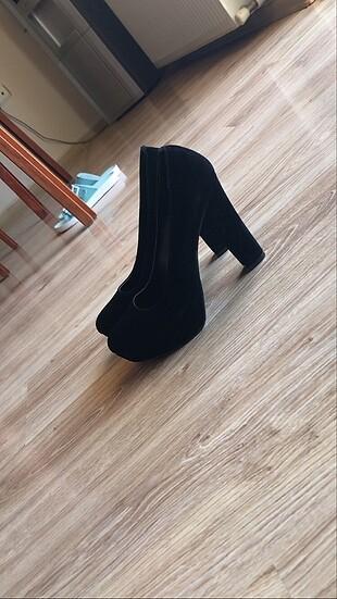 38 Beden siyah Renk Platform topuklu siyah ayakkabı