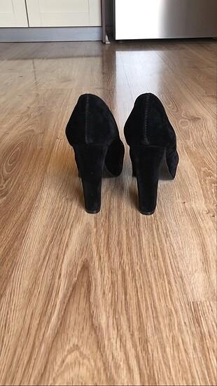 Bambi Platform topuklu siyah ayakkabı