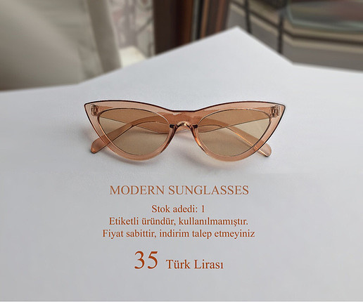 Gözlük vintage son model cat eye