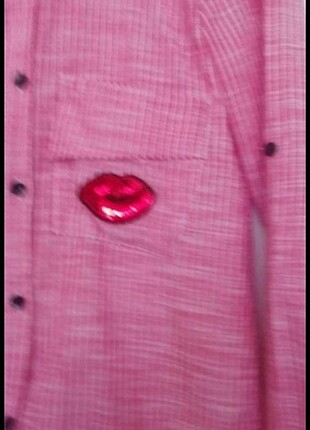 Diğer Çizgili pul detay gömlek