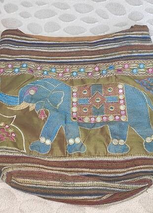 Fil figürlü etnik çanta