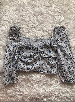 Çiçekli büstiyer bluz